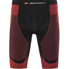 X-Bionic M's Effektor Power Running Pants Short Black/Red
